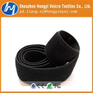 Nylon Durable Adjustable Black Elastic Loop Magic Tape pictures & photos