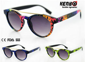 Fashion Round Frame Sunglasses for Accessory, CE FDA Kp50744 pictures & photos