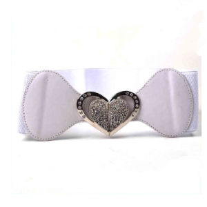 Lovely Heart Design Fashion Lady Elastic Waist Belts for Dress pictures & photos