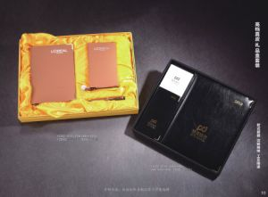 Cheap Price with Gift Box Leather Diary pictures & photos