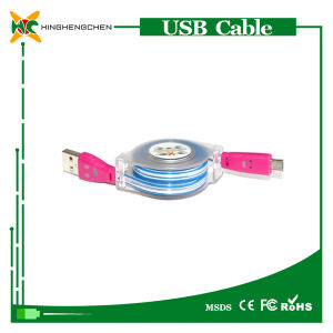 Wholesale Retrectable USB Cable LED Light USB Cable pictures & photos