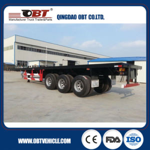 Obt Manufacturer 3 Axles Gooseneck Flatbed Trailer pictures & photos