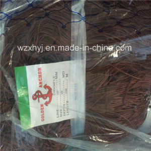 Deep Stretched Brown Nylon Multifilament Fishing Net for Italia 210d/30 pictures & photos