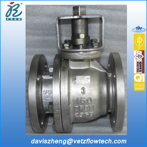 3 in Class150 RF CF8m Soft Seated Floating Ball Valves with ISO 5211 Mounted Flange