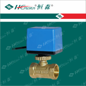 D Q F-C3 Brass Motorized Ball Valve with for Heating, Ventilation and Air-Conditioning System pictures & photos