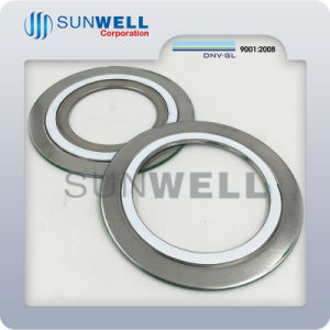spiral wound gasket and flange. flexible graphite spiral wound gasket with ss316 ss304 2\ and flange