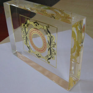 Abstract Clear Resin Crafts for Hotel Decoration Business Gift pictures & photos