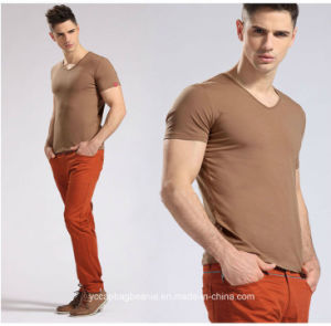 Men Classic V Neck Short Sleeves T Shirt pictures & photos