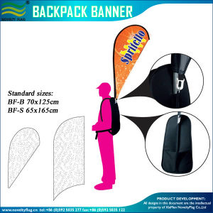 120GSM Knitted Polyester Flag Backpack Walking Advertising Flag (J-NF04F06095) pictures & photos