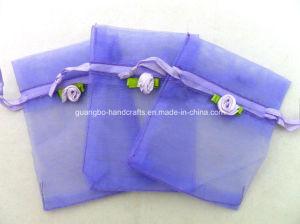 Custom Promotional Purple Drawstring Wedding Organza Bag pictures & photos
