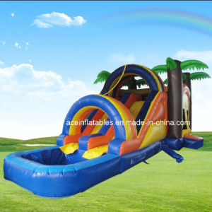 Hot Sale Tropical Palm Tree Inflatable Water Combo