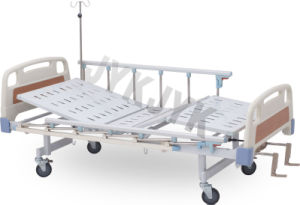 Two Cranks Manual Hospital Bed Net Sheet pictures & photos