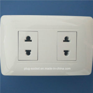 High Quality ABS Copper Material Wall Switch Socket (W-093) pictures & photos