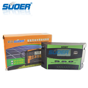 Suoer 12V 24V 20A PWM Solar Charge Controller Solar Controller (ST-C1220) pictures & photos