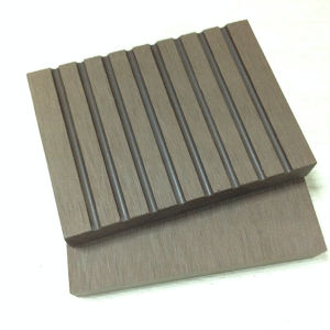 Solid Wide Grooved Wood Surface Sanding Brushed Decking WPC Quality pictures & photos
