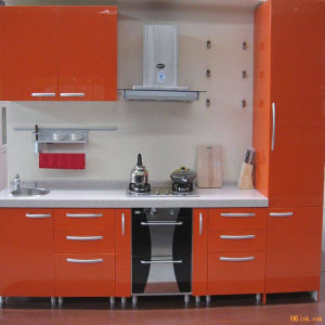 High Glossy Kitchen Cabinet (K-132) pictures & photos