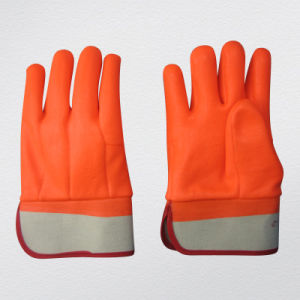 Smooth Finish Jersey Liner PVC Winter Glove-5122 pictures & photos