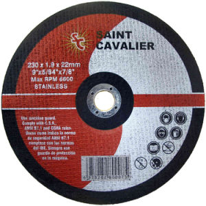 En12413 Alumina Abrasive Cutting Disc with Handle (230X1.8X22.2) pictures & photos