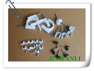 Electric Nylon Circle 6 mm Nail Cable Clips pictures & photos