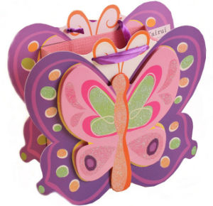 Butterfly Shaped Paper Gift Bag for Kids (PB-009) pictures & photos