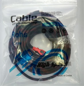 1.8 M Od7.5mm CCS Knit Double Ring V1.4 HDMI Cable for TV and Set-Top Box pictures & photos