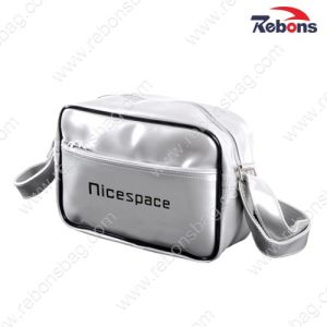White Small Glossy PVC Shoulder Sling Across Body Bag pictures & photos