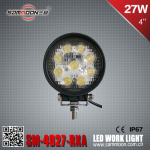 4 Inch 27W (9PCS*3W) Round CREE LED Car Work Driving Light with Ce RoHS ECE (SM-4027-RXA)