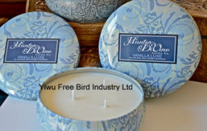 Wholesale 340g Pure Soy Aroma Candle with Lid pictures & photos