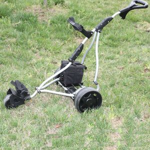 China Wholesale Three Wheel Golf Pull Cart with Battery (DG12150-A/1) pictures & photos