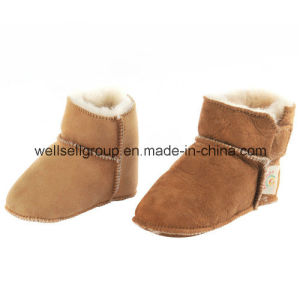 Sheepskin Baby Indoor Moccasin Boots (CPS-070) pictures & photos