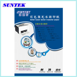 Best Quality A4 Laser Transparent Water Transfer Paper pictures & photos