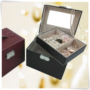 Durable PU Leather Decorative Bracelet Jewelry Box