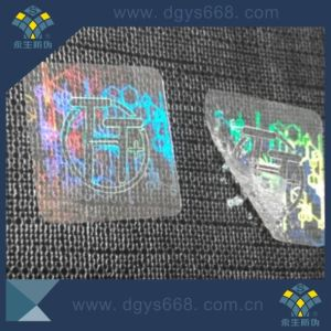 Customized Security Transparent Laser Hologram Sticker pictures & photos