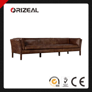 Orizeal Sorensen Slightly Flared Leather Sofa (OZ-LS-2037) pictures & photos