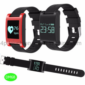 Waterproof Bluetooth Wristband Smart Bracelet with Heart Rate Monitor Dm68 pictures & photos
