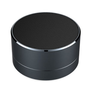 Factory Handsfree Bass Subwoofe Aluminum Alloy Cylinder Mini Gift Speaker Wireless A10 Bluetooth Speaker with LED Light TF Card