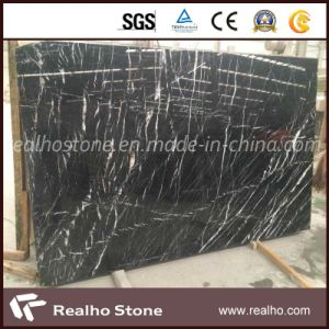 Cheap Marble Black Marquina Marble Slab pictures & photos