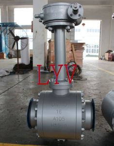 Worm Gear Welded Ball Valve with Extension Stem pictures & photos