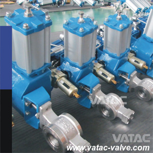 Casting Steel Wafer Type V Port Ball Valve pictures & photos
