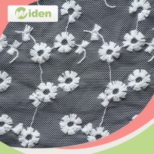 New Design Flower Cotton Net Lace Fabric pictures & photos