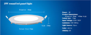 Ultra Thin LED Panel Light Round AC 85-265V Lighting LED Downlight for Home LED Ceiling Spot Light pictures & photos