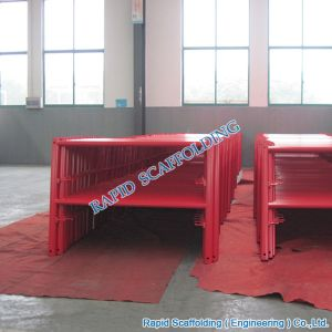Red Powder Coated SGS Metal Types of Heavy Duty Ladder Frame System Scaffolding pictures & photos