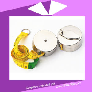 Metal Box Measure Tape Cloth Measuring Tape for Gift (BH-015) pictures & photos