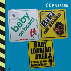 Baby on Board Sign/Car Window Sign pictures & photos