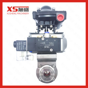 Stainless Steel Sanitary Aluminum Actuator Butterfly Valve with Solenoid Valve pictures & photos