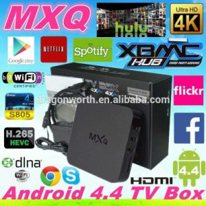 2016 Hot Selling Android TV Box Mxq Amlogic S805 Quad Core 1g/8g WiFi 4k Video HD Android 4.4 Mxq TV Box Ott TV Box Mxq S805 Can Be OEM pictures & photos