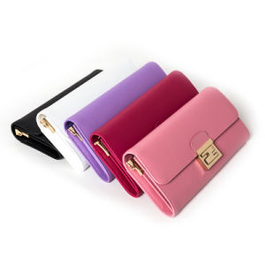 Hot Sale Ladies Purse Women Leather PU Wallets (ZC0007) pictures & photos