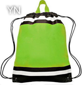 Small Non Woven Reflective Sports Drawstring Backpack Bag pictures & photos
