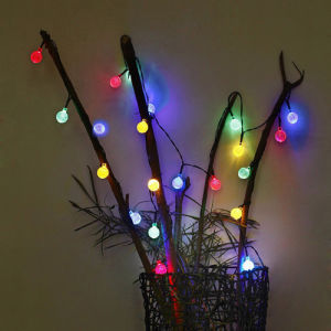 50PCS Bubble Ball Solar Powered LED Christmas String Light colorful Waterproof Lamp for Holiday Festival Party Wedding Garden Decoration pictures & photos