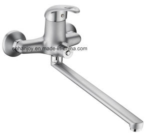Wall Mounted Single Handle Bathtub Shower Faucet (H08-208-SATIN) pictures & photos